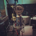 Recording a charity record on a sweet microphone in a studio in Shoreditch.