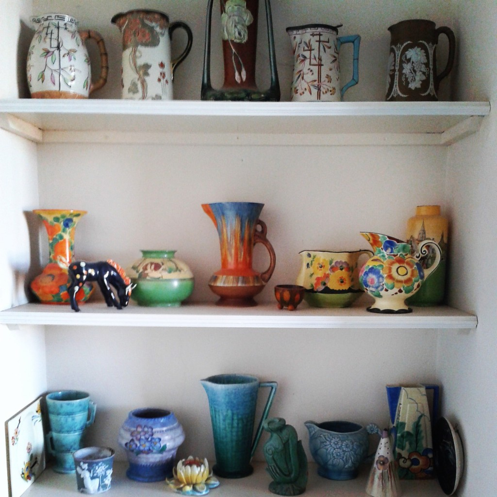 My grandmother's lovely pottery.