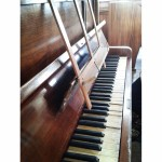 Old piano in my local chapel.
