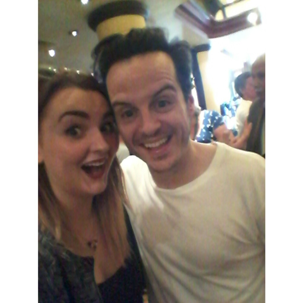 With Andrew Scott.